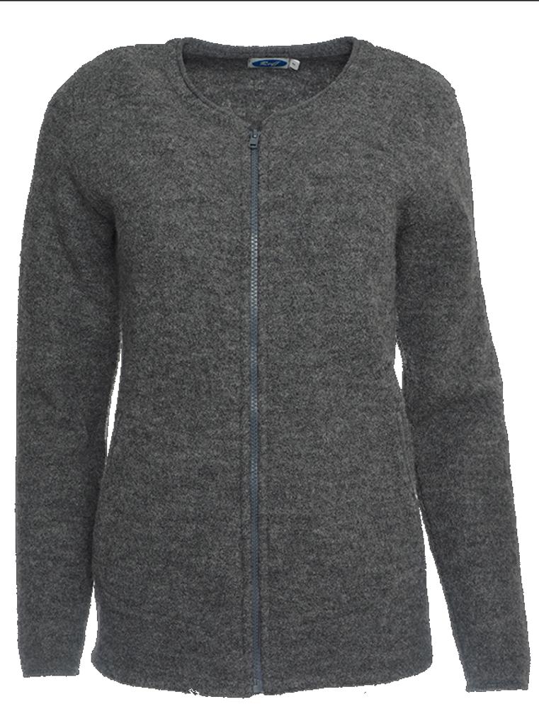 Organic Wool Fleece Jacket for Women Color: Slate Grey