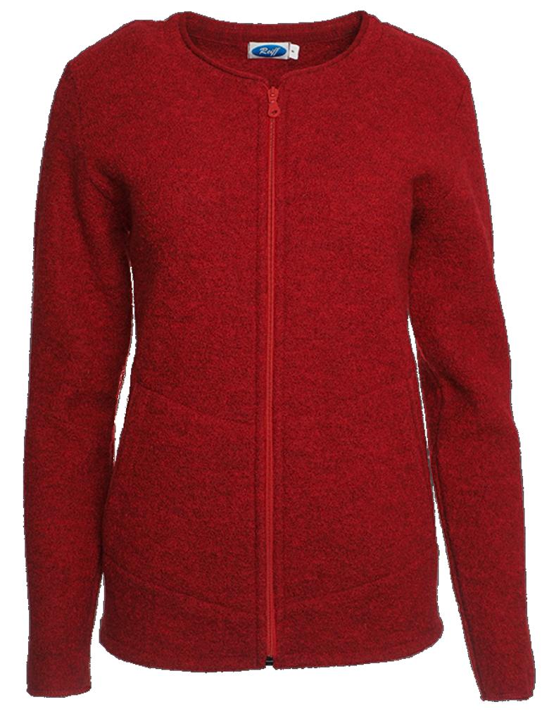 Organic Wool Fleece Jacket for Women Color: Rubin