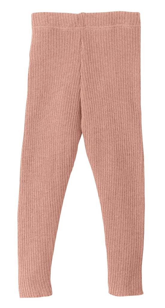 Organic Merino Wool Knitted Leggings Color: Rose