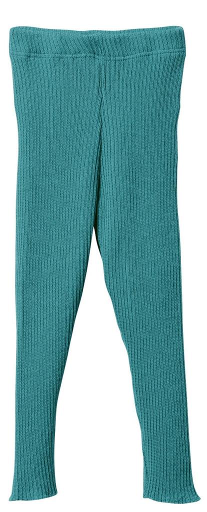 Organic Merino Wool Knitted Leggings Color: Lagoon
