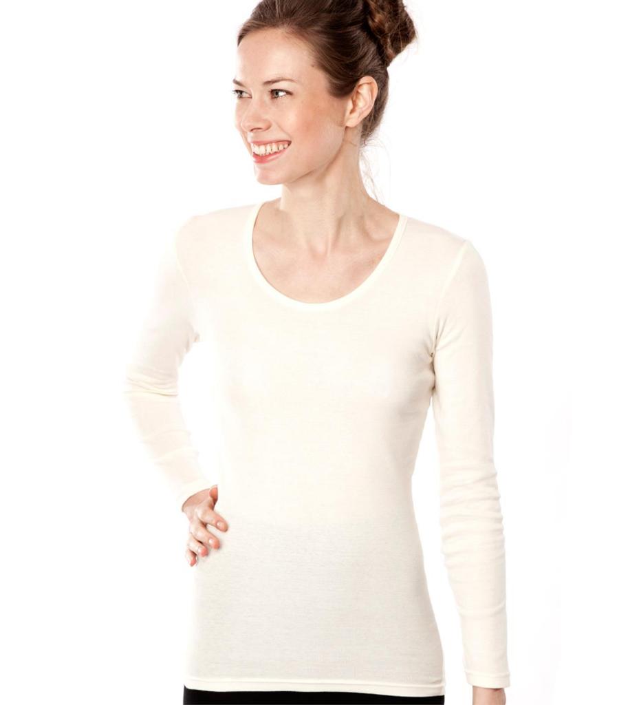 Women's Organic Cotton Long Sleeved Shirt | Living Crafts 4359