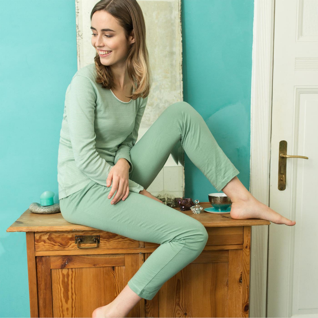 Organic cotton Sleep Shirt Color:  rosemary/mint