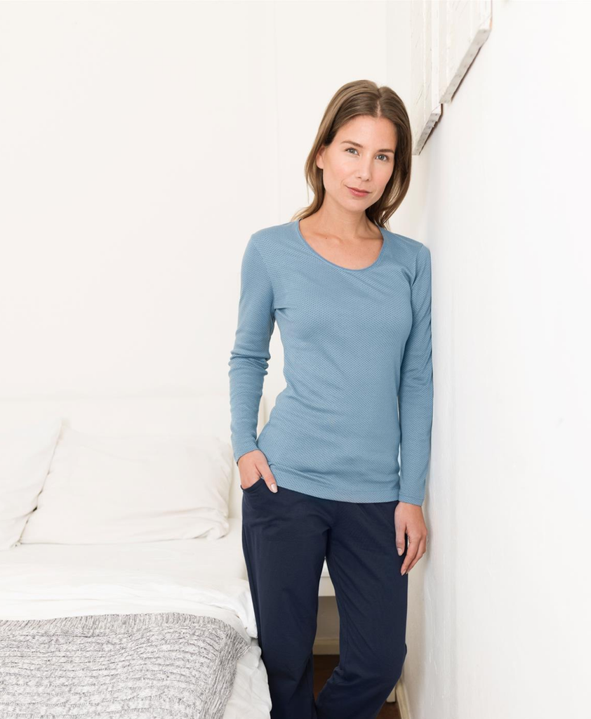 Organic cotton Sleep Shirt Color: Cloud Dots