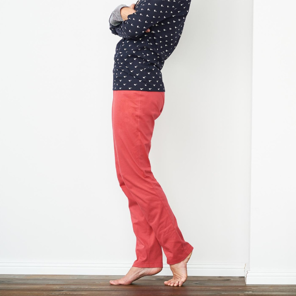 Organic Cotton Sleep Trousers Color: 570 poppy
