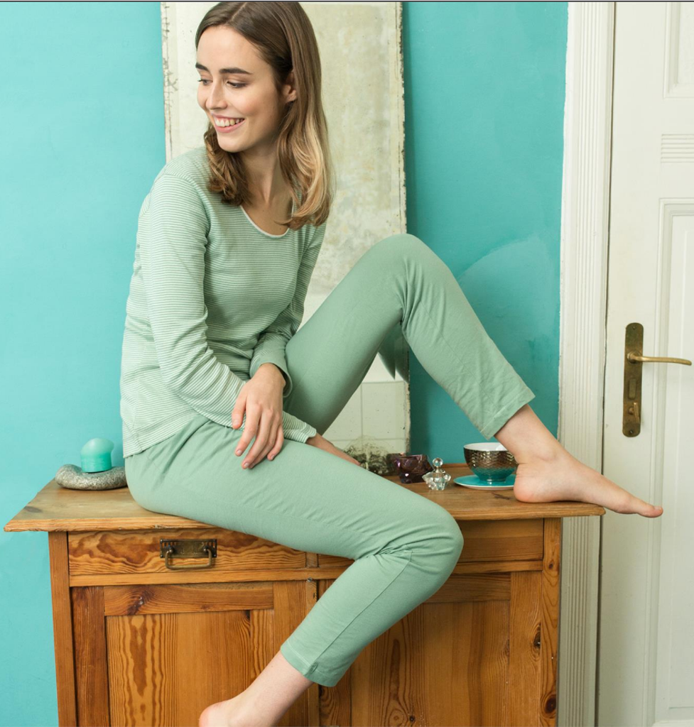 Organic Cotton Sleep Trousers Color: 655 rosemary