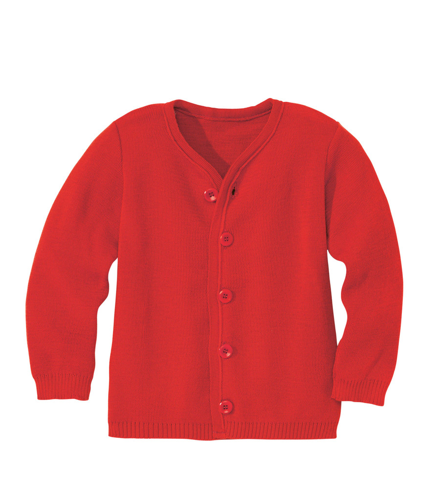 Disana Organic Wool Lightweight Jacket Color: Red