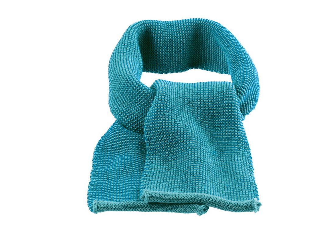 Organic Wool Scarf Color: 922 Blue Lagoon