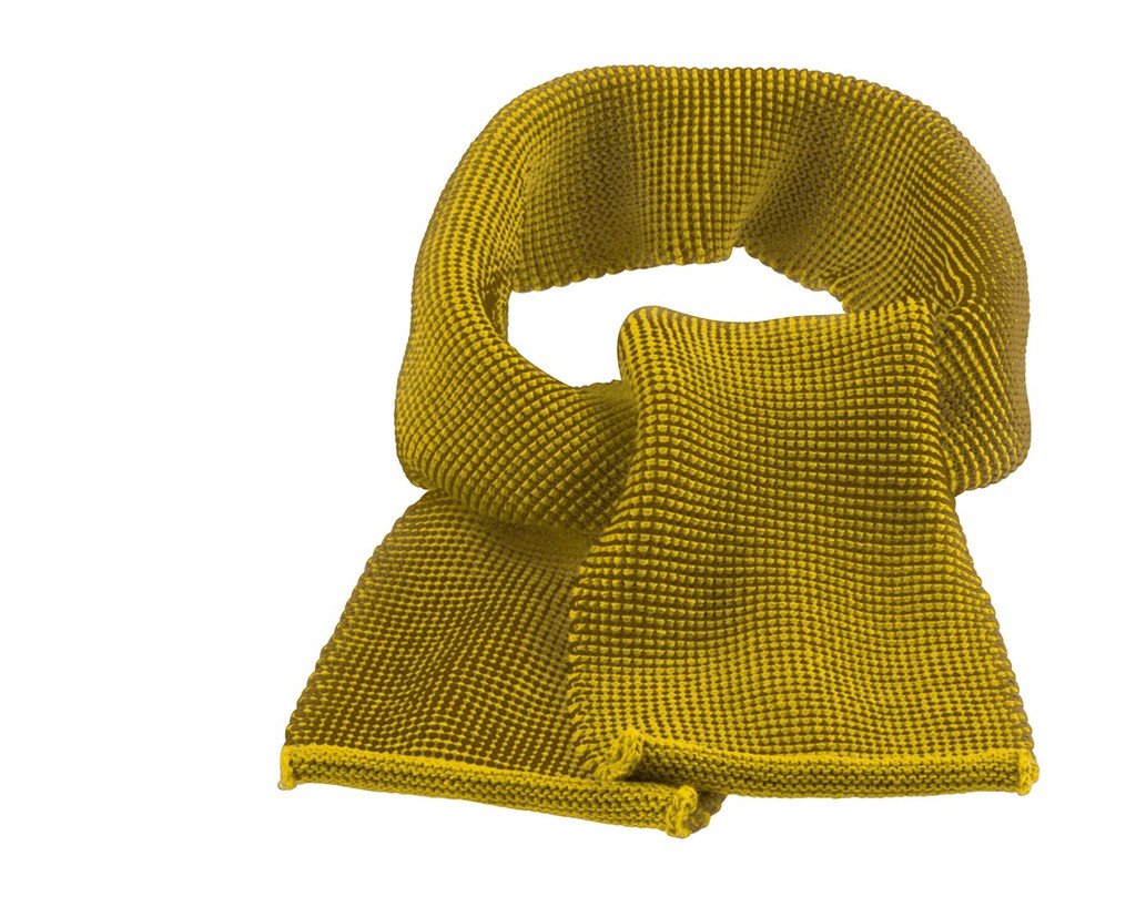 Organic Wool Scarf Color: 978 Curry Gold
