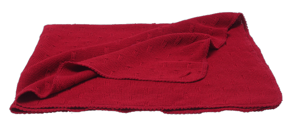 Organic Merino Wool Silk Knitted Blanket