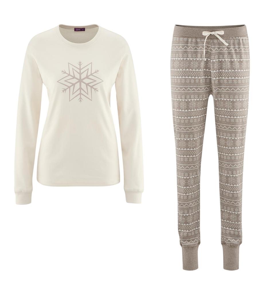 Organic Cotton Pajamas Color: 624 taupe/sand