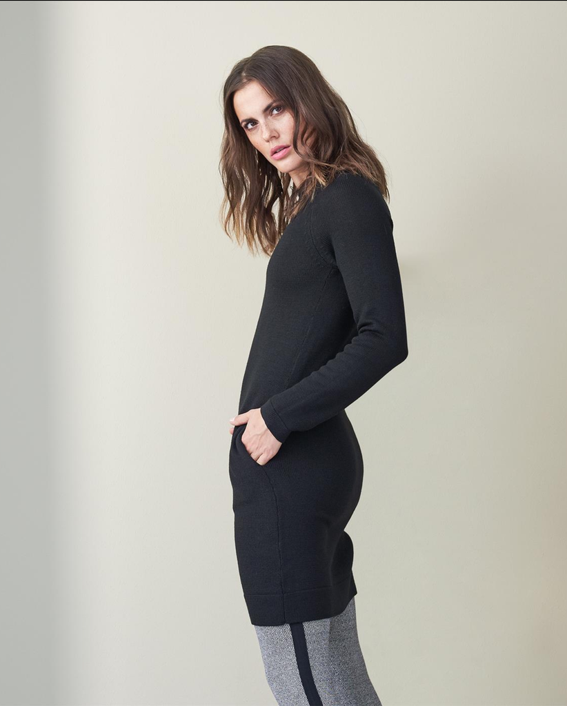 Organic Wool Dress Color: black