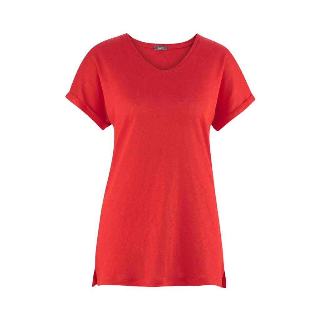 Women's Organic Linen Shirt Color: 25 grenadine