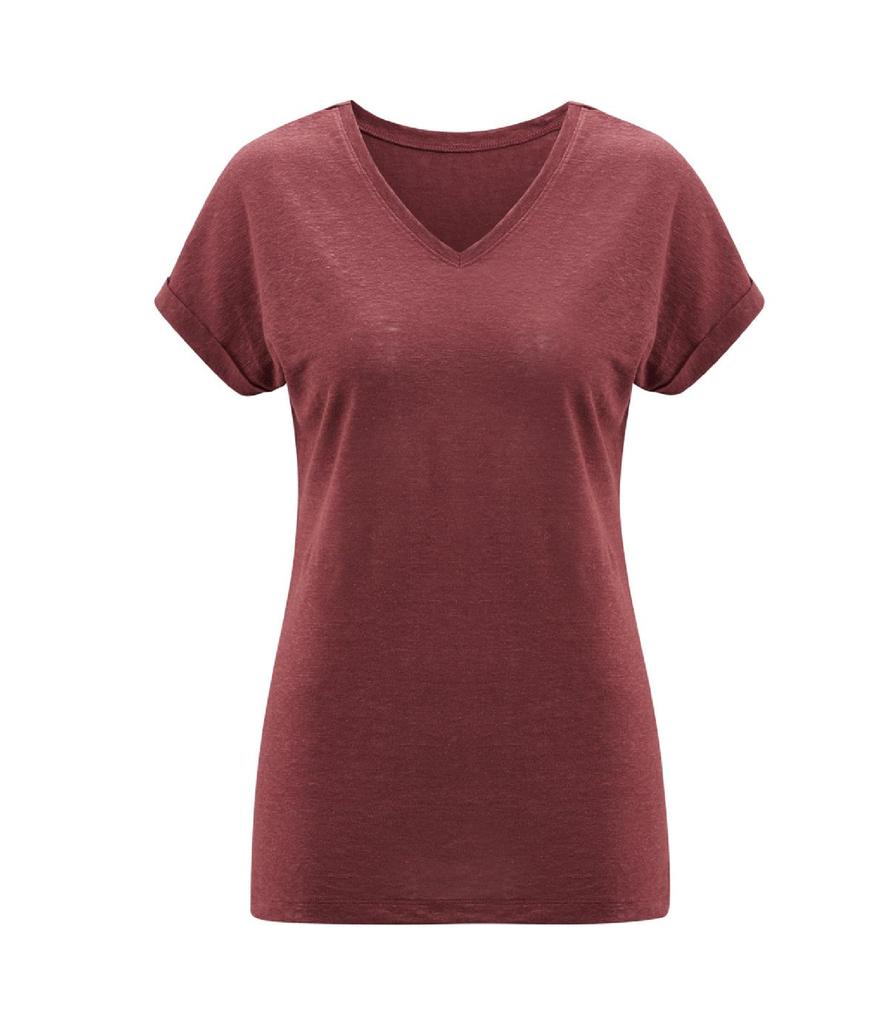 Women's Organic Linen Shirt Color: 553 rosso