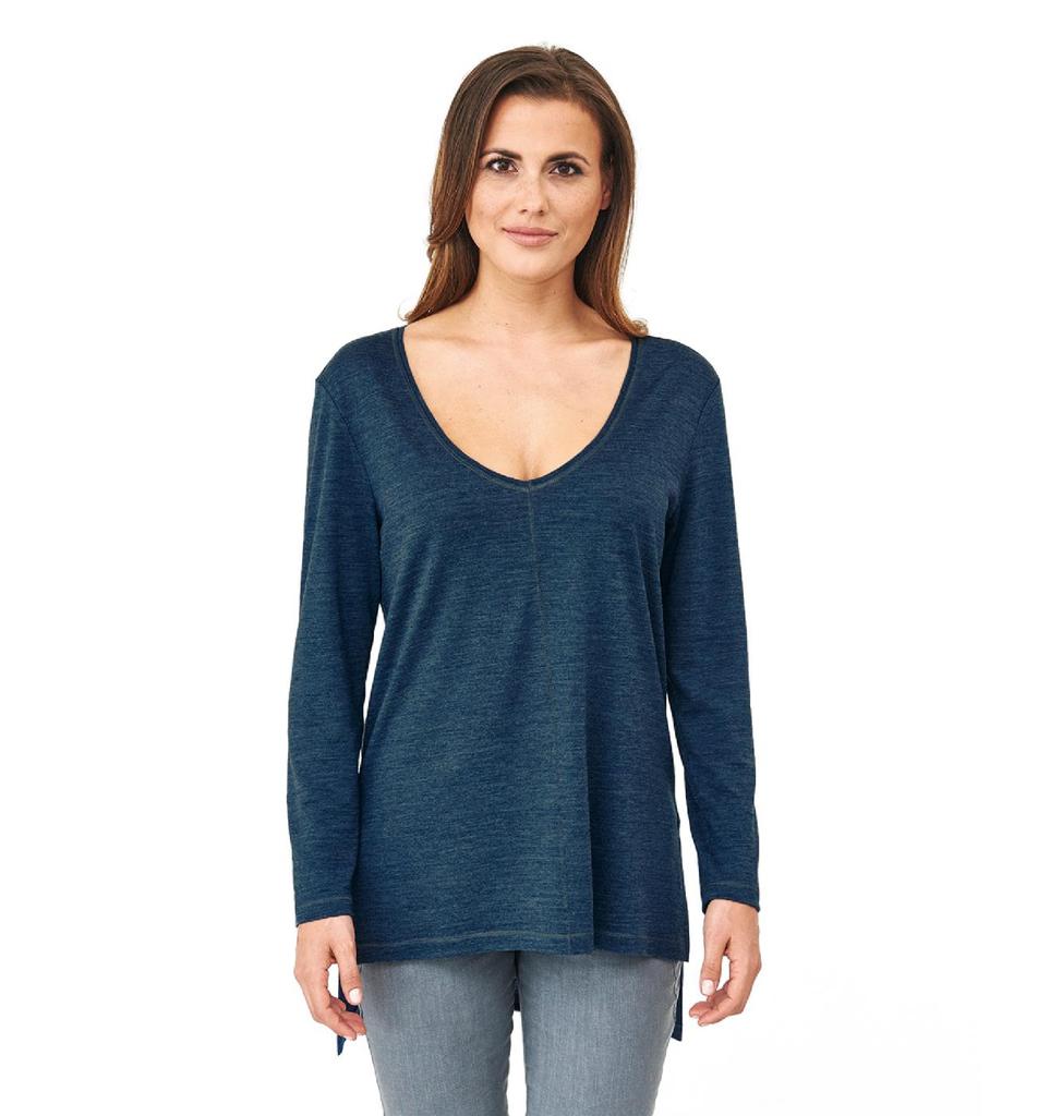 Women's Organic Wool Silk Long Shirt