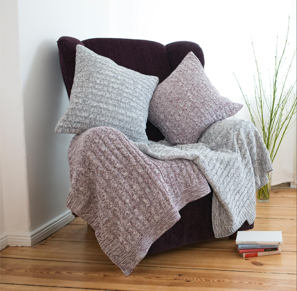 Organic Cotton Knitted Blanket BEDFORD