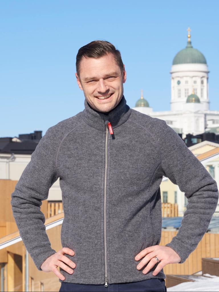 Ruskovilla Organic Wool Fleece Jacket for Man
