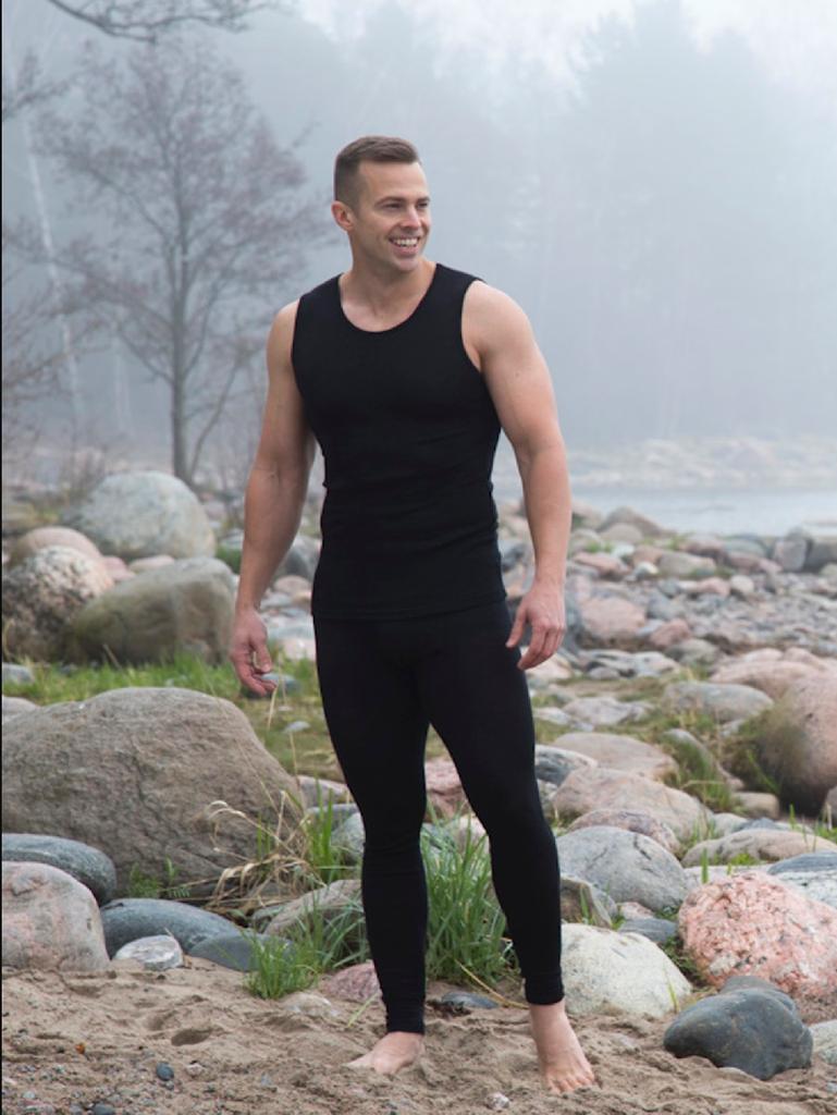 Ruskovilla Organic Merino Wool Silk Unisex Sleeveless Underwear Shirt