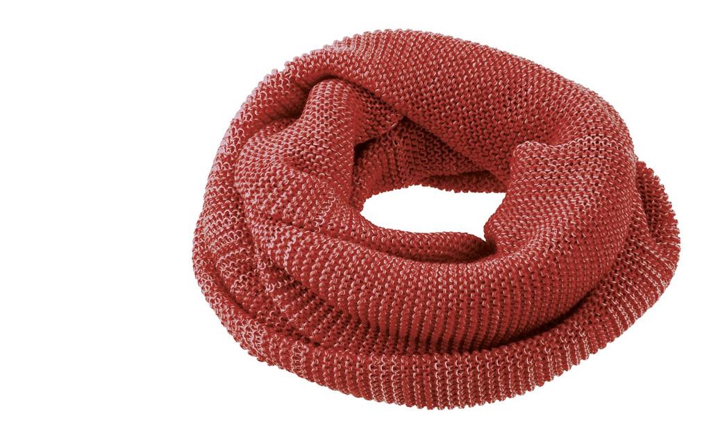 Organic Wool Loop Scarf Color: Bordeaux Rose