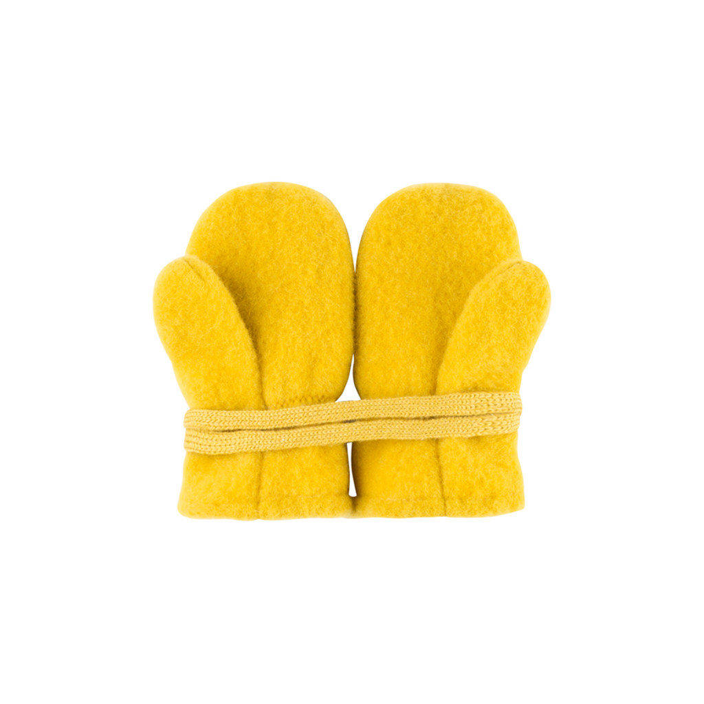 Baby Organic Wool Mittens Color: 09 lemon curry