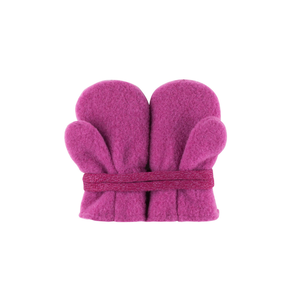 Baby Organic Wool Mittens Color: 24 magenta
