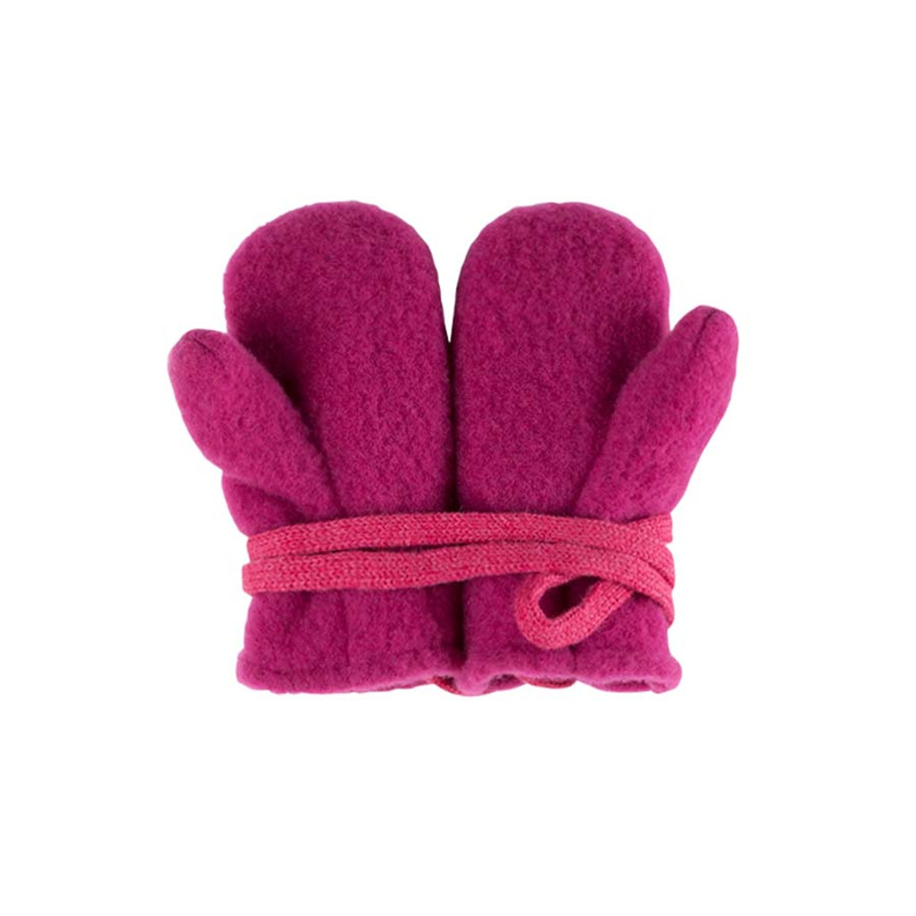 Baby Organic Wool Mittens Color: 271 pink berry