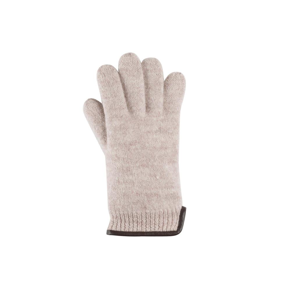 Women Organic Wool Gloves Color: 80 beige