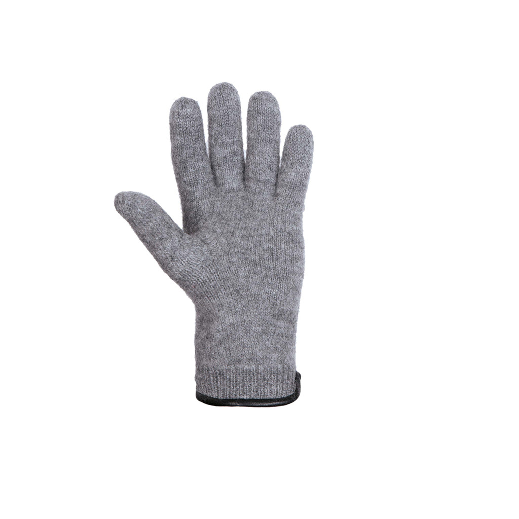Women Organic Wool Gloves Color: 93 silver grey