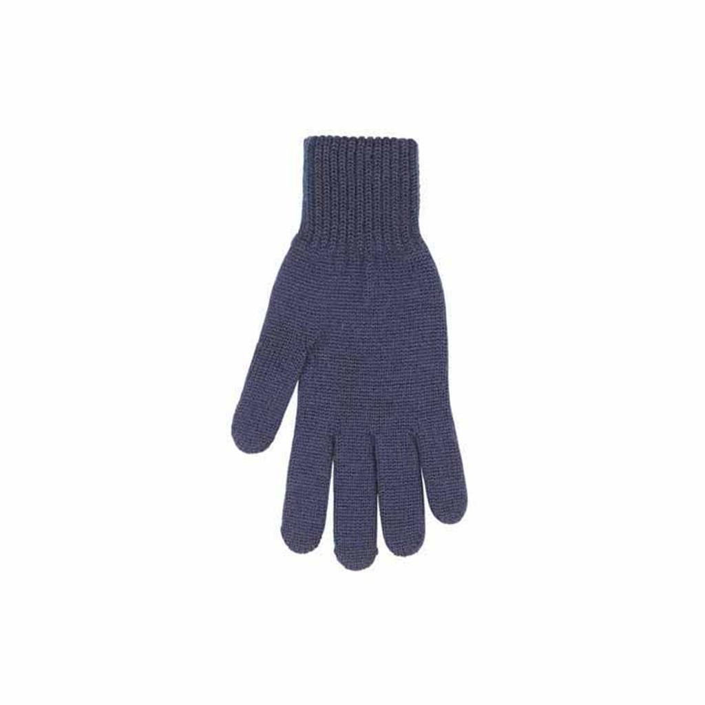 Man Organic Wool Gloves Color: 30 navy-blue