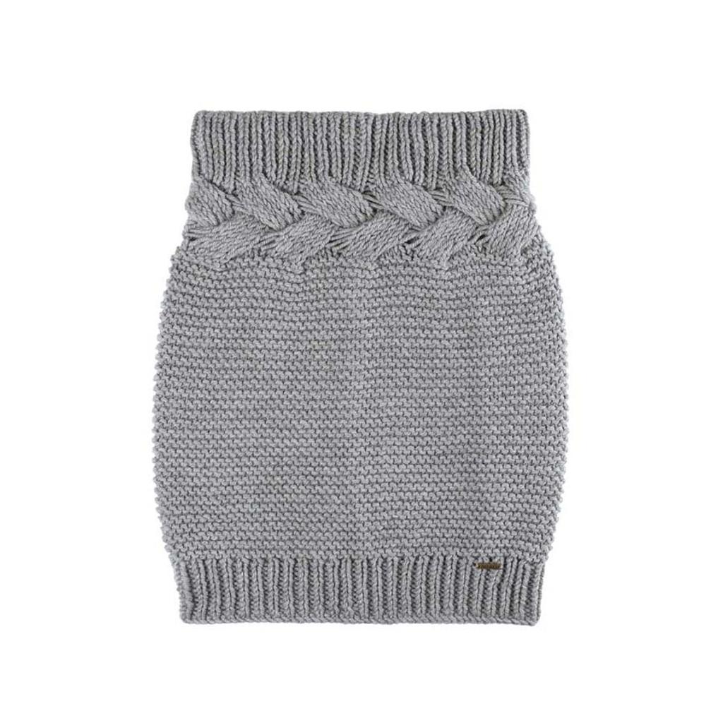 Organic Marino Wool Neck Warmer Color: 95 grau