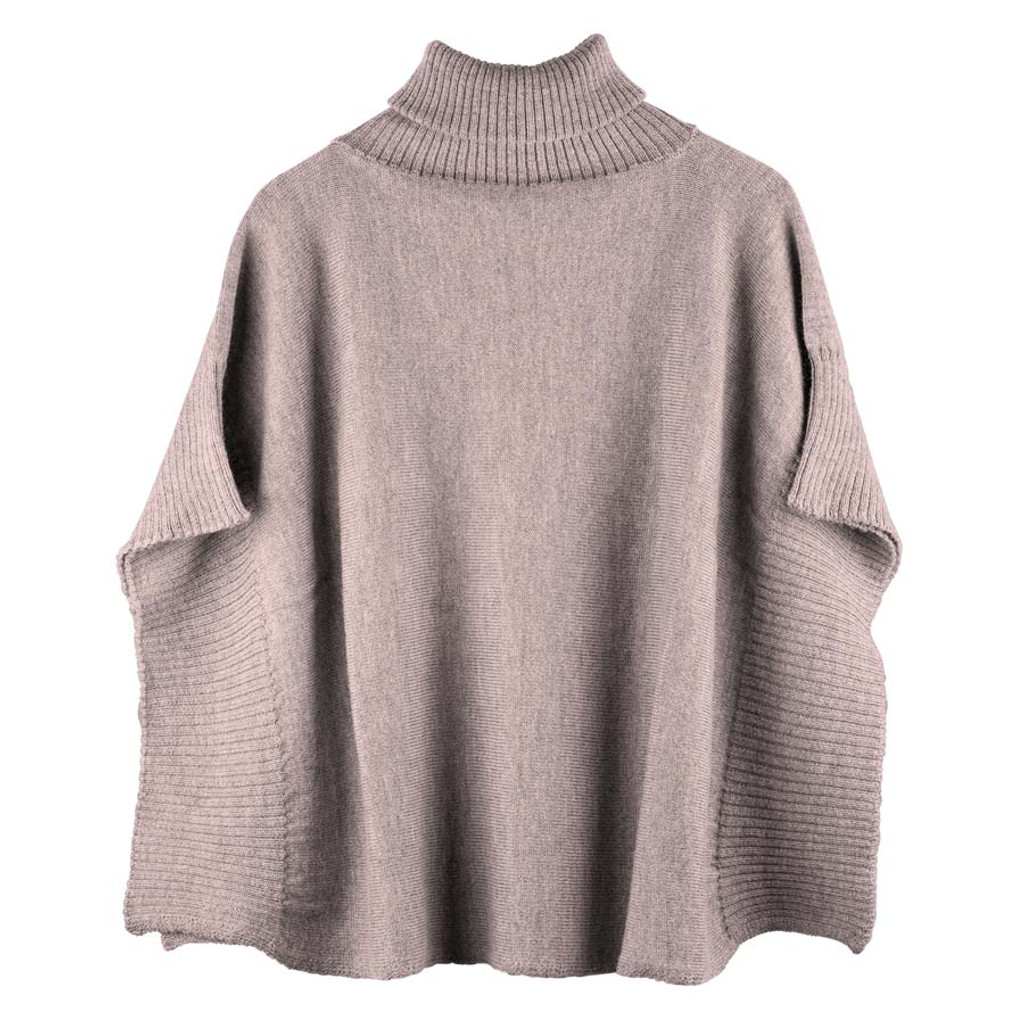 Organic Wool Women Poncho Color: 85 kaschmir