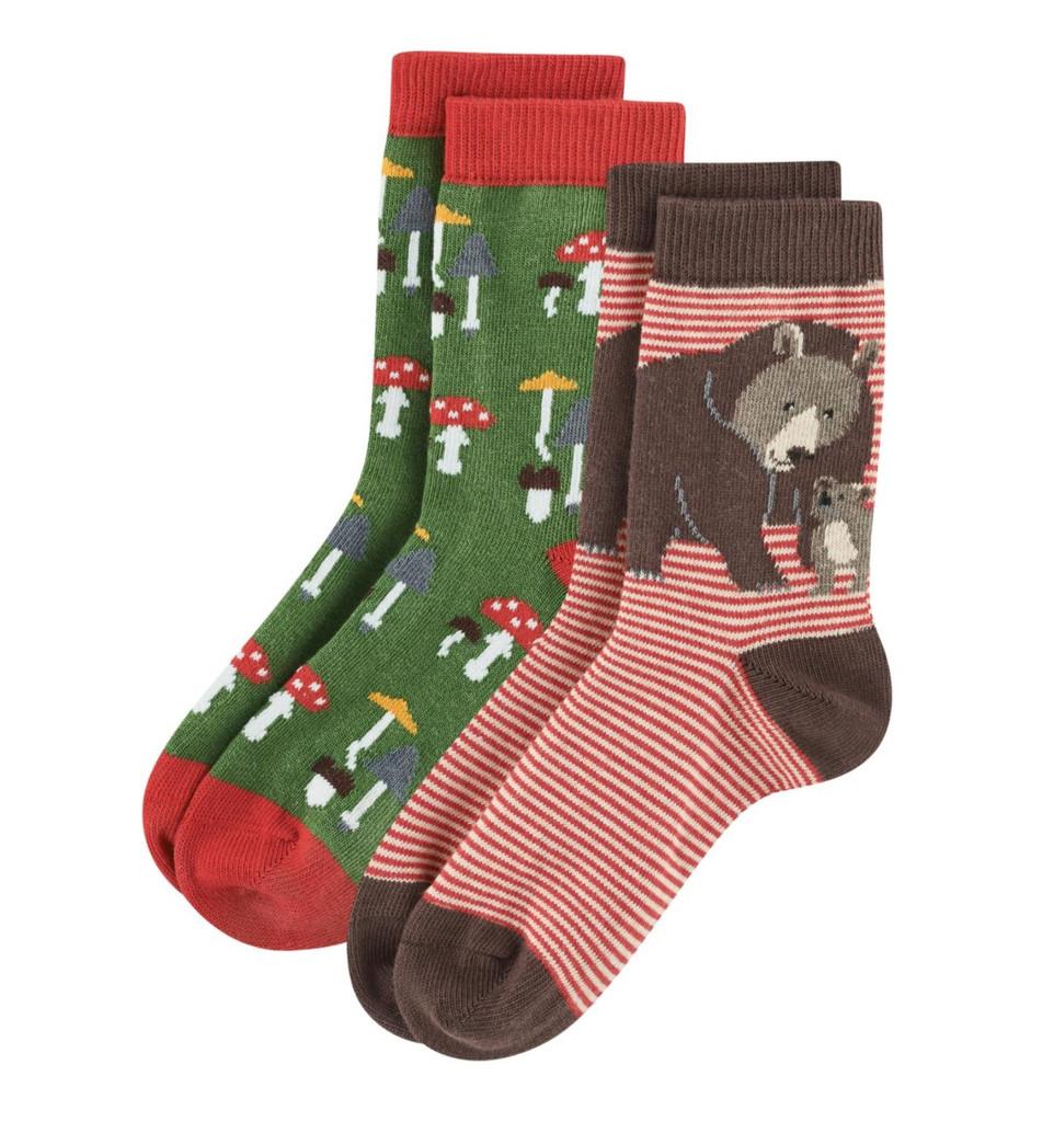 Kids Organic Cotton Sneaker Socks Color: 67 red/green