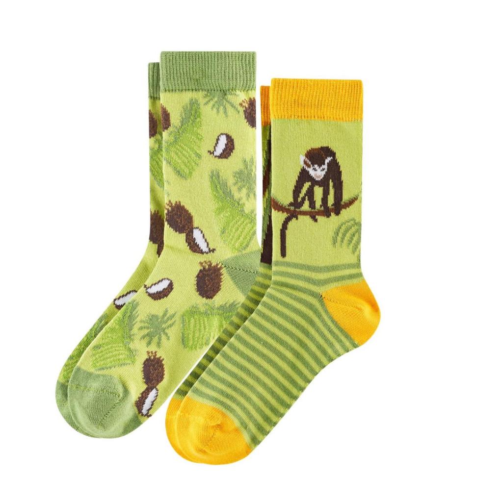 Kids Organic Cotton Sneaker Socks Color: 814 monkey
