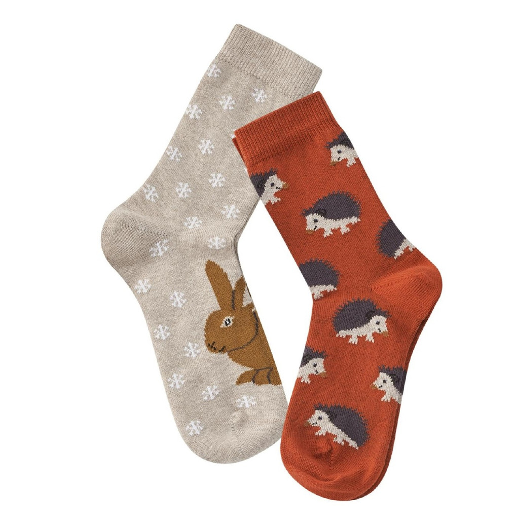 Kids Organic Cotton Sneaker Socks Color: 548 red clay/sand