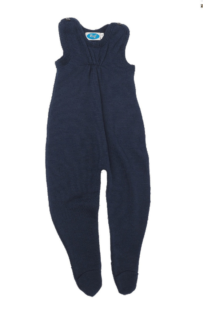 Baby Organic Wool / Silk Romper Color: Navy