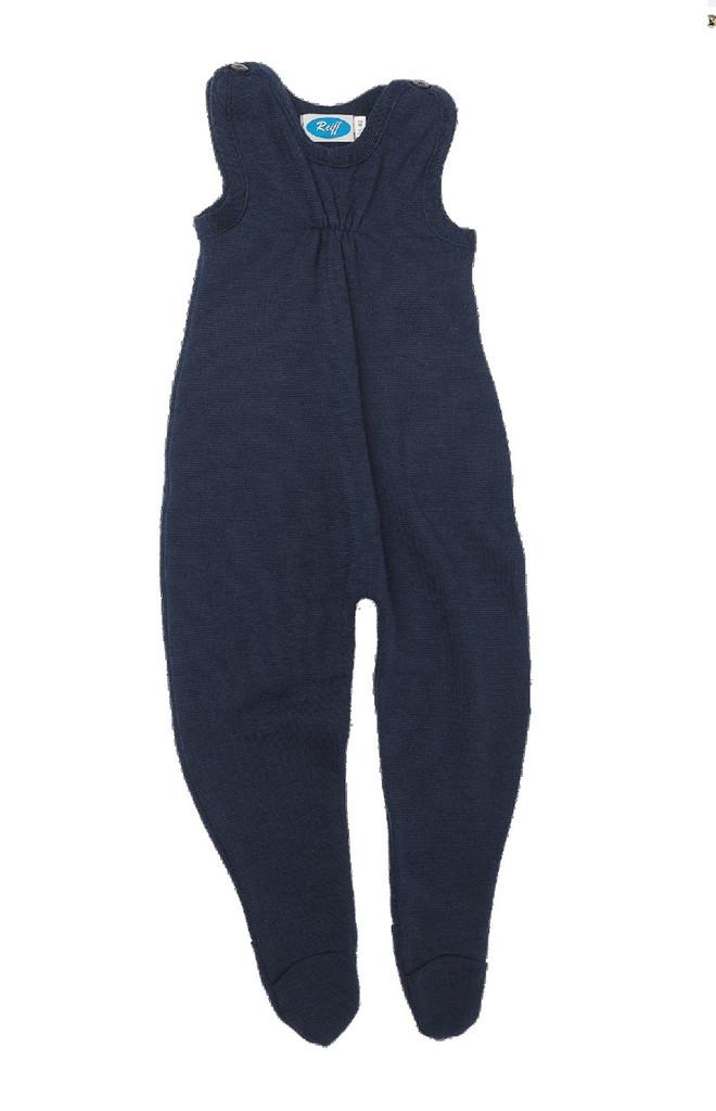 Baby Organic Wool / Silk Romper Color: Navy