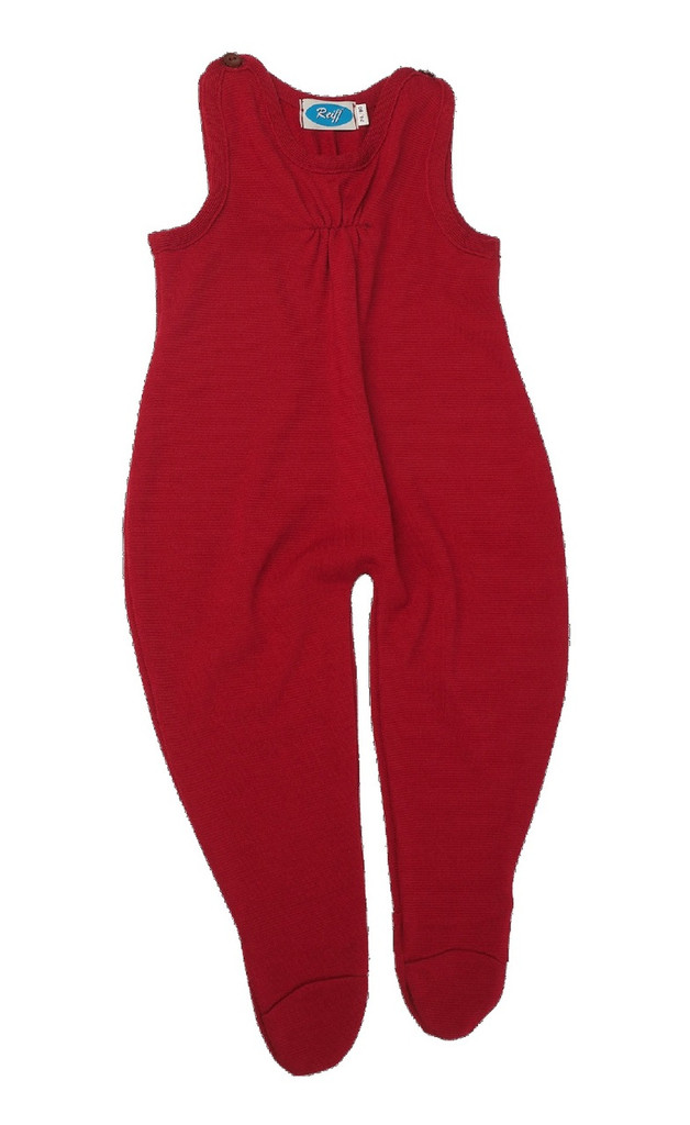 Baby Organic Wool / Silk Romper Color: Burgandy Red