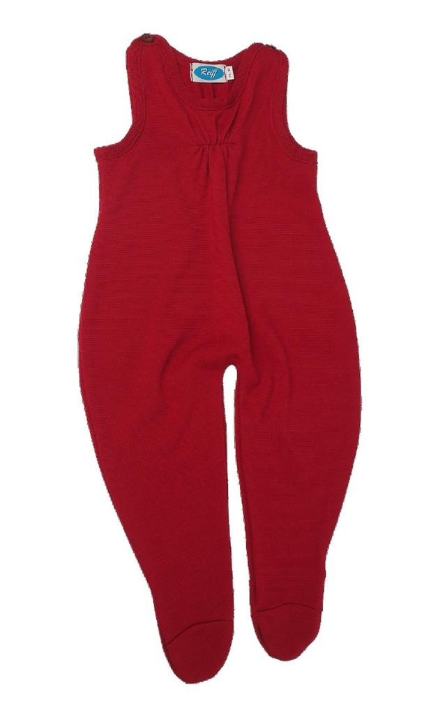 Baby Organic Wool / Silk Romper Color: Burgandy Red
