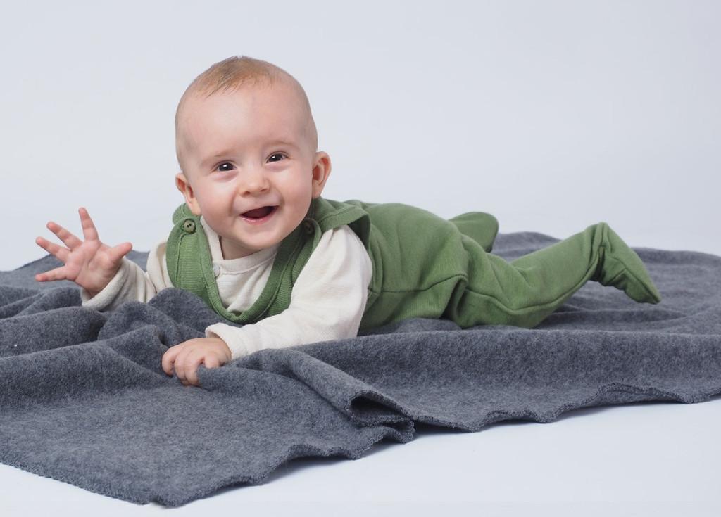 Baby Organic Wool / Silk Romper
