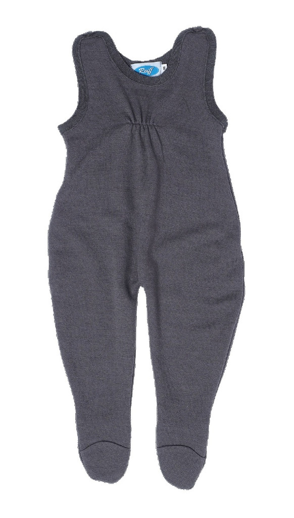 Baby Organic Wool / Silk Romper Color: Slate Grey