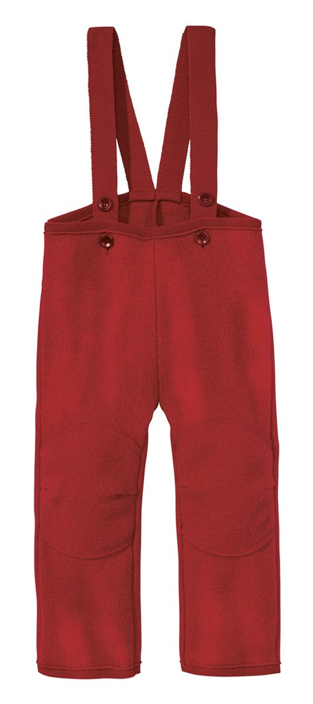 Disana Organic Boiled Wool Overalls Color: bordeaux