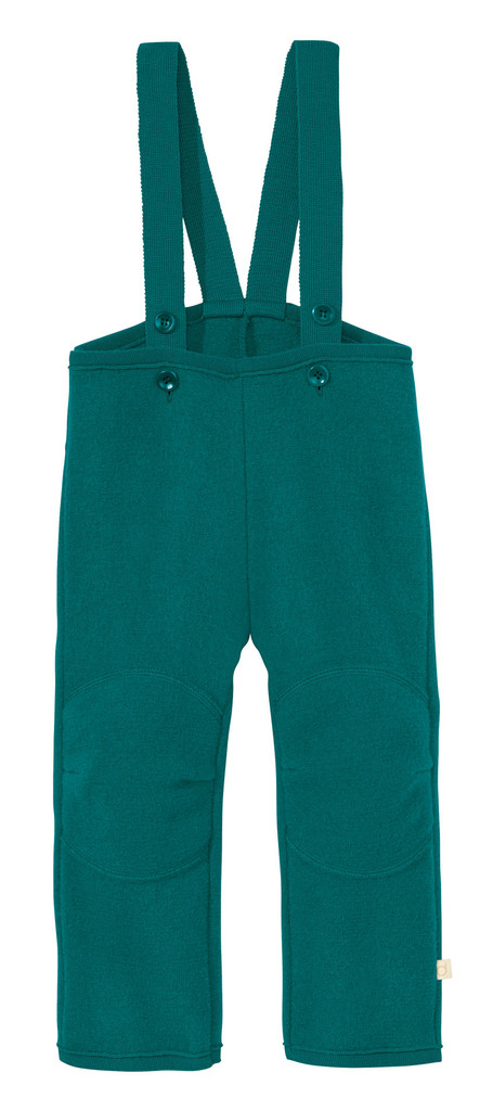 Disana Organic Boiled Wool Overalls Color: 281 Pacific
