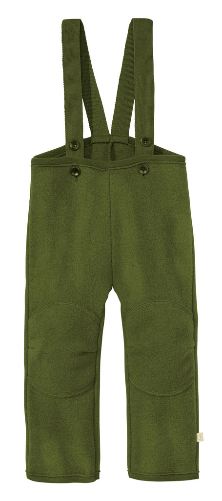 Disana Organic Boiled Wool Overalls Color: 581 Olive