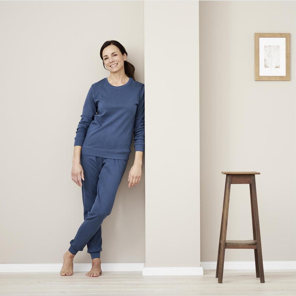 Organic Cotton Women Pajamas Color: 683 blue shadow
