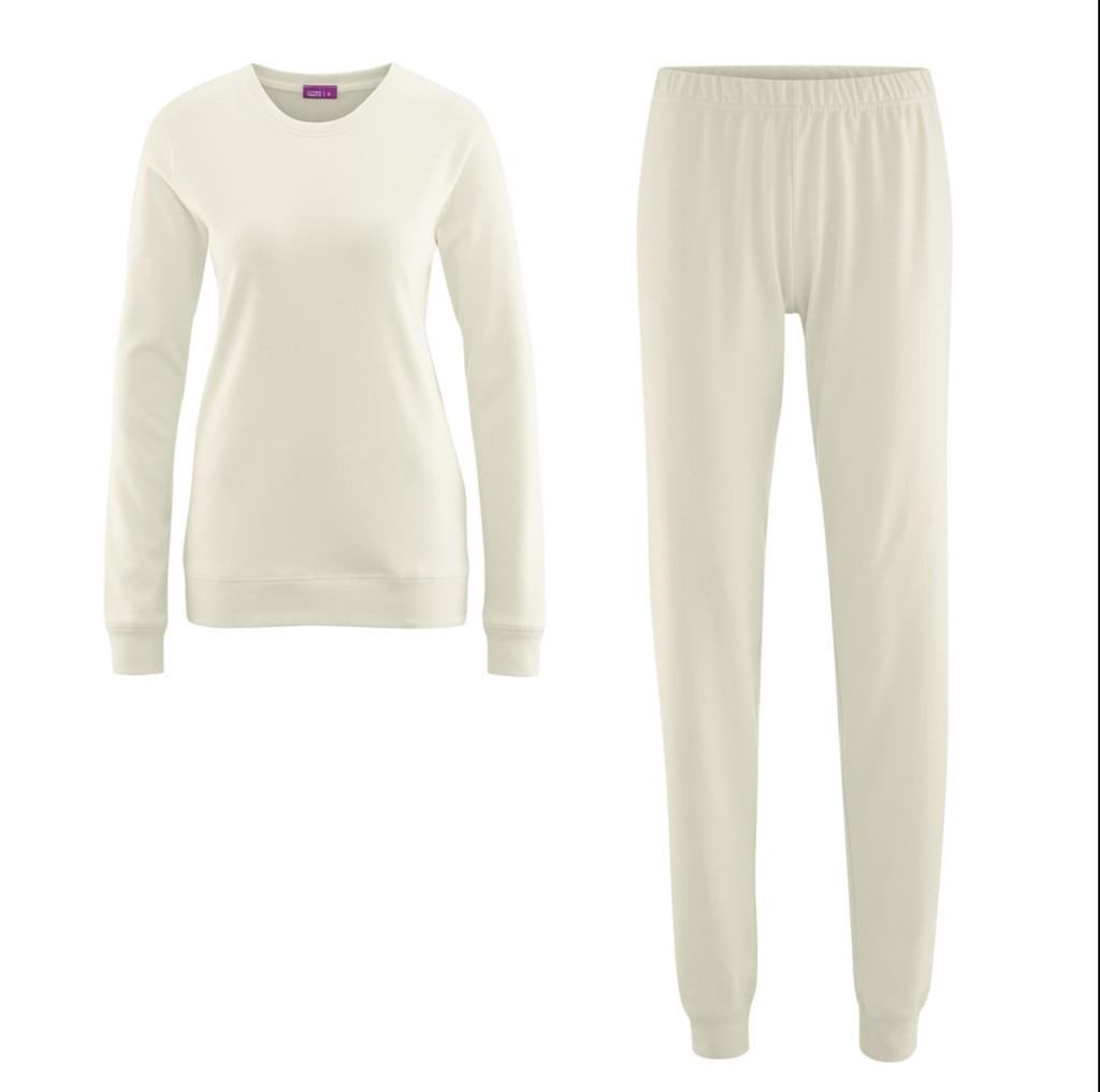 Organic Cotton Women Pajamas Color: 01 Natural