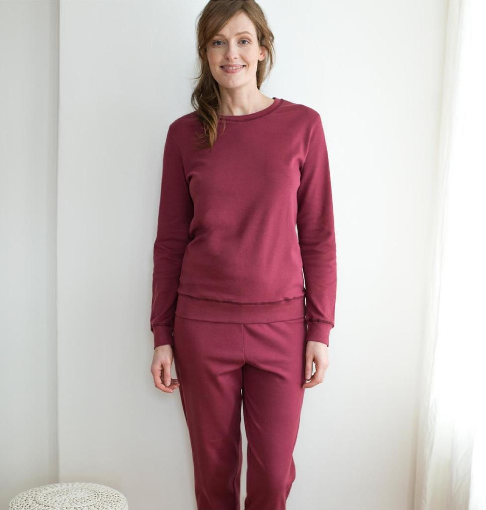 Organic Cotton Women Pajamas Color: 540 winter rose