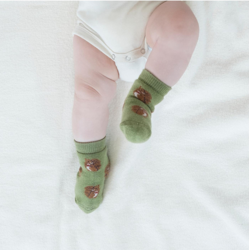 Baby Organic Cotton Socks Color: 697 squirrel