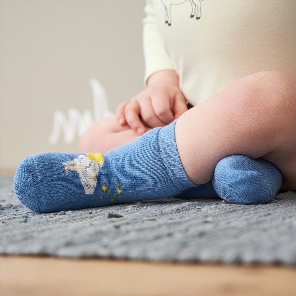 Baby Organic Cotton Socks Color: 706 pumpkin/cobalt