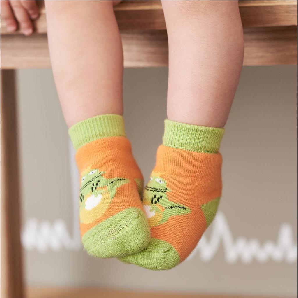 Baby Organic Cotton Socks Color: 706 pumpkin/cobalt