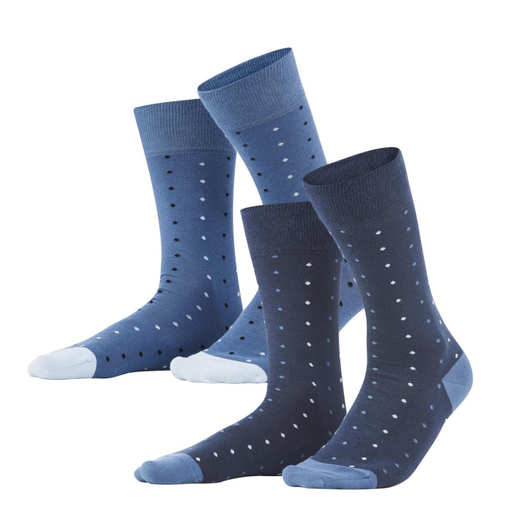 Men Socks, pack of 2 Color: 507 dark navy/infinity blue