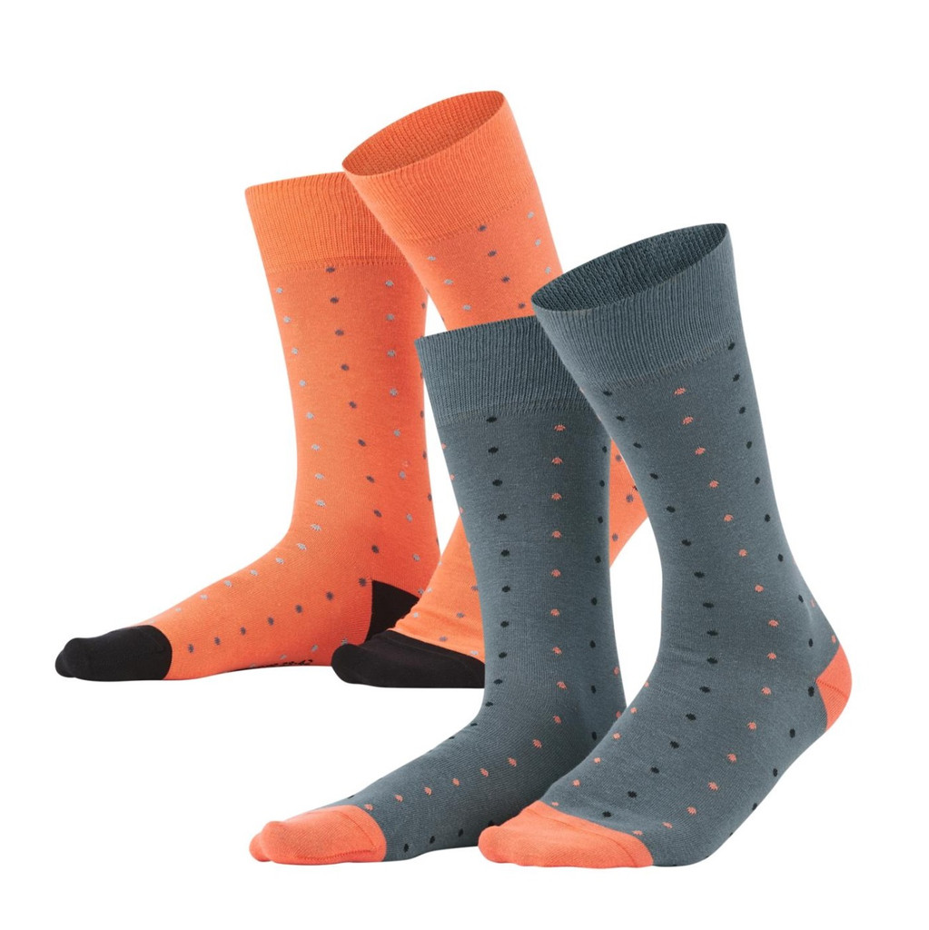 Men Socks, pack of 2 Color: 763 asphalt/pepper